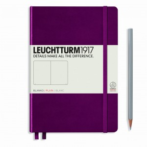 Notes LEUCHTTURM 1917  A5 Medium bordowy gładki