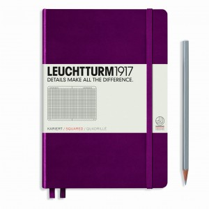 Notes LEUCHTTURM 1917  A5 Medium bordowy kratka