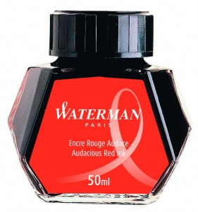 Atrament WATERMAN czerwony 50ml