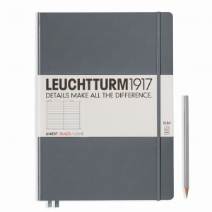 Notes LEUCHTTURM 1917 A4+ Master Slim antracyt gładki